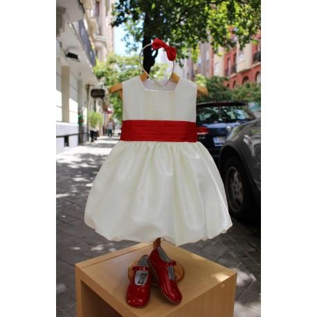 Ivory flower girl dress, bubble skirt. Great back bow