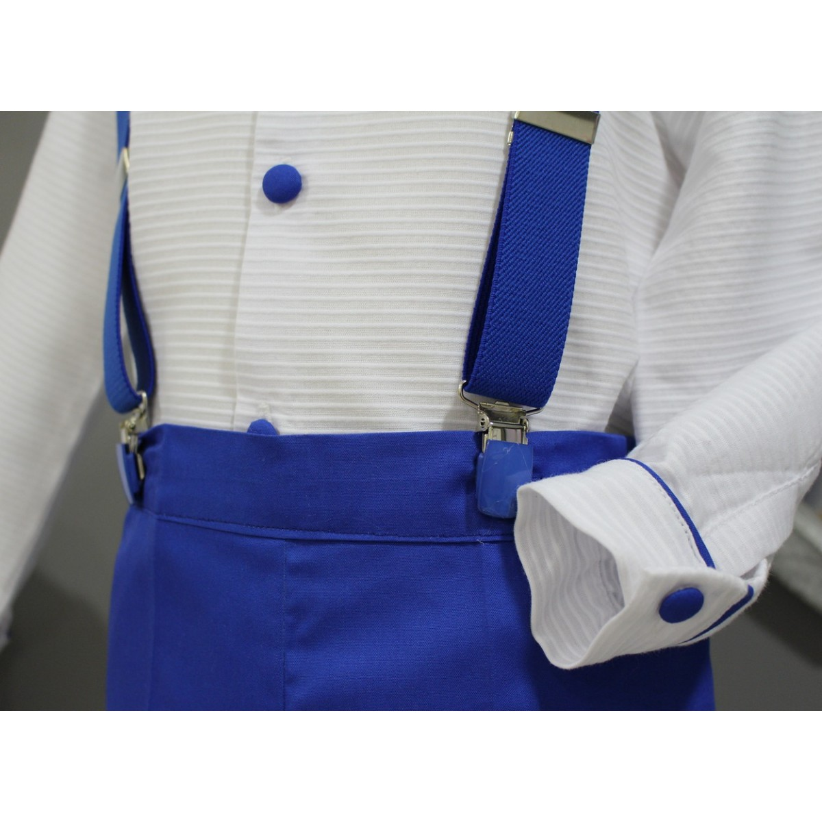 Boy Ring Bearer Outfit.White Shirt And Royal Blue Shorts With Bow Tie. Childrenu0026#39;s Ceremonial ...