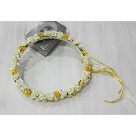 Corona de Flores tipo capuyitos para niña. Varios colores