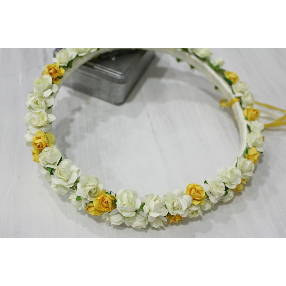 Flower headband girls available in many colors - Coronas de flore ...