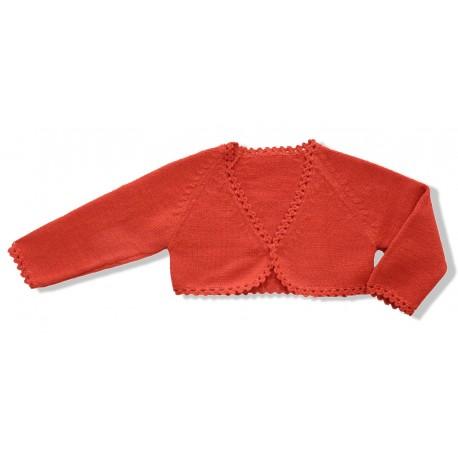 Chaqueta torera niña lana Coral