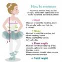 Como tomar medidas niña vestido de arras