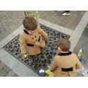 Abrigo infantil unisex paño camel. Abrigo ingles