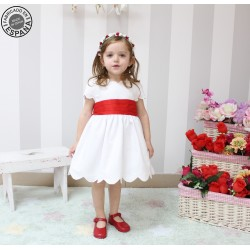 Pique Flower girl dress, with great belt