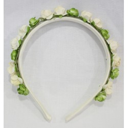 Lining Diadem with combined flowers