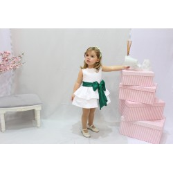 Pique Flower girl dress, with great belt