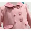 Abrigo inglés paño rosa