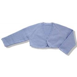 Short Cardigan for girls sky blue