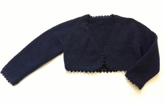 c78467d3e Chaqueta torera niña lana azul marino - Golositos Ropa Infantil