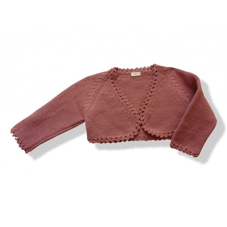 Short Cardigan for girls old pink