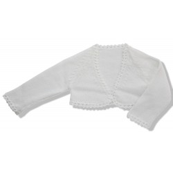 Short Cardigan for girls WHITE PERLE