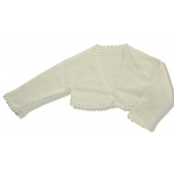 Short Cardigan for girls IVORY PERLE