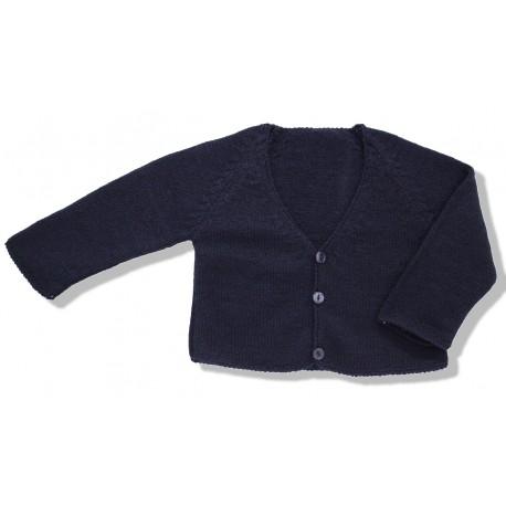 Chaqueta larga lana marino