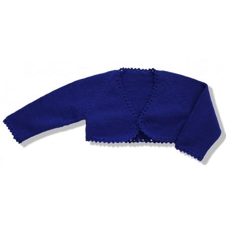 Chaqueta torera niña lana azul electrico-royal